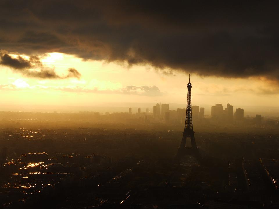 Paris, Eiffel Tower, Sunset, France, Skyline, Travel