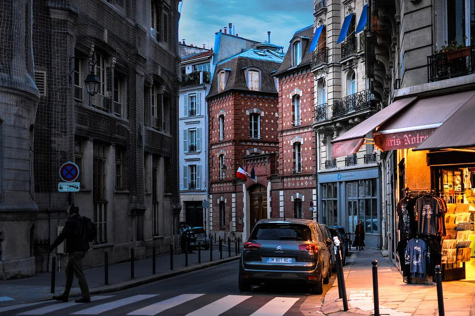 Paris, France, French, Evening, Stroll, Street, City