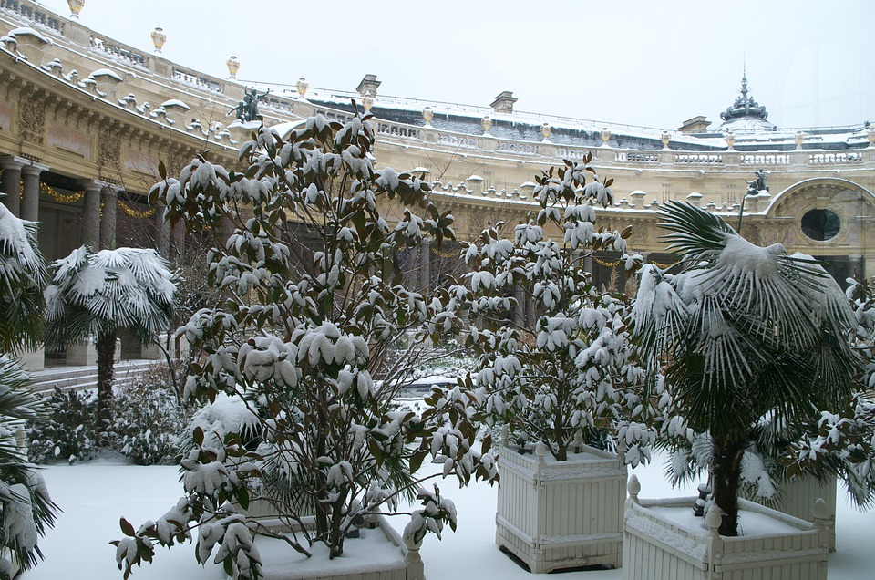 Paris, France, Winter, Snow, Ice, Palace, Landmark