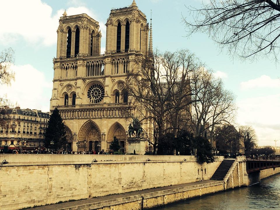 Paris Landmarks, Notre Dame, Seine River