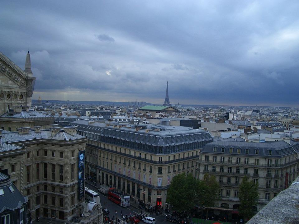 Paris, Distant View, Lookout, France, Viewpoint, Clouds