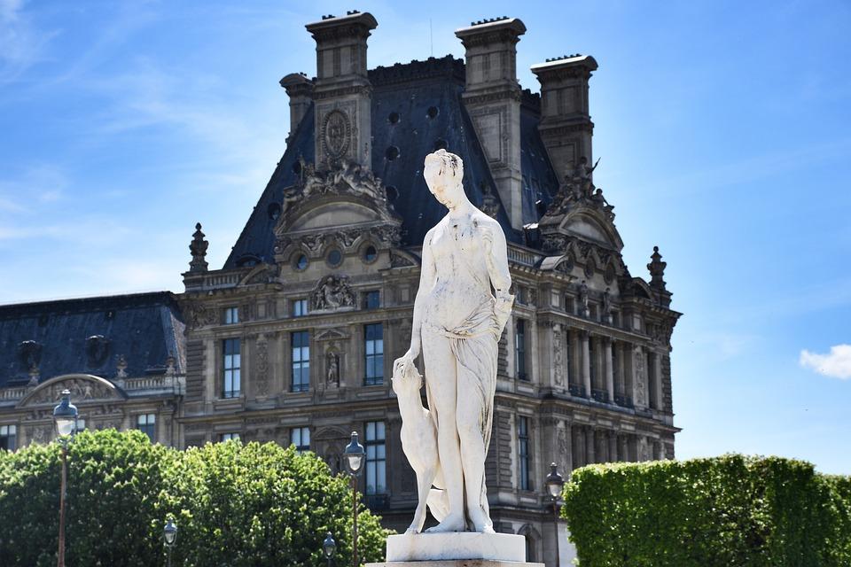 Paris, Louvre, Tuileries Garden, Marble Statue, Art
