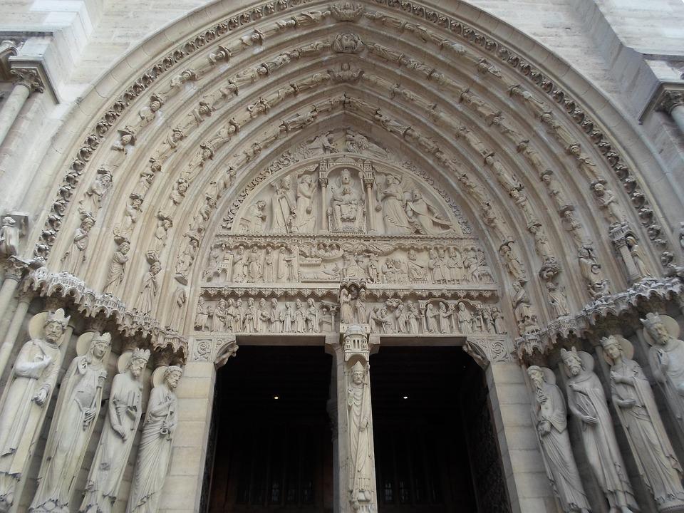 Notre Dame, Paris, Cathedral, Door, Church