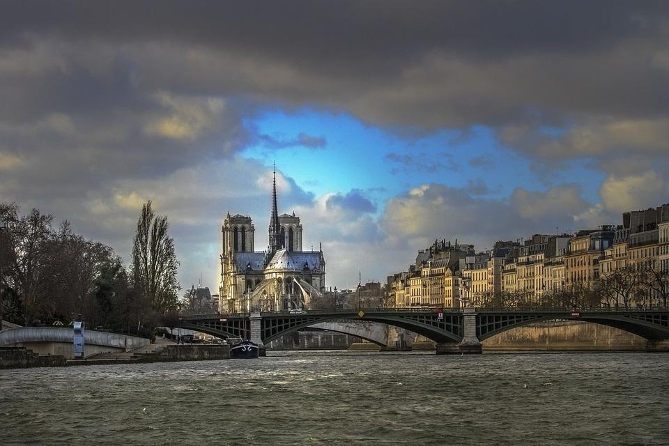 Paris, The River Seine, Notre Dame, France