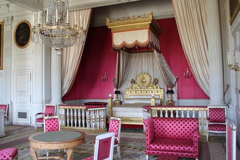 Paris, Versailles, Bedroom, Pink, Royal, Female