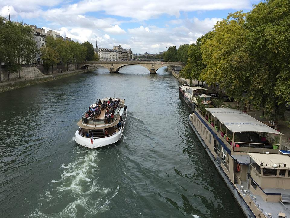 Seine, River, Paris, Boat, France