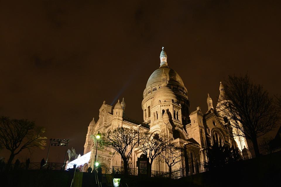 Sacre Coeur, Montmartre, Paris, France, Cathedral