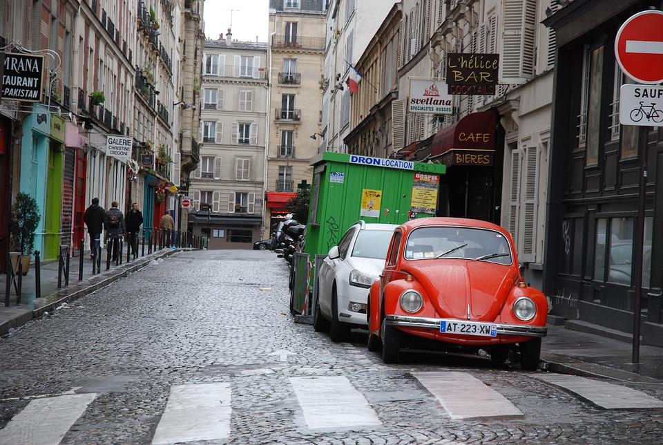 Paris, Street, Cars, Buildings, Parking, Parked, France
