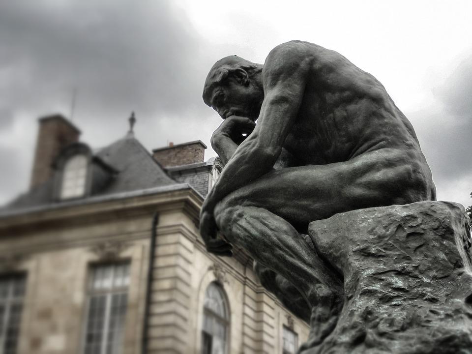 The Thinker, Rodin, Paris, Sculpture, Museum, Bronze