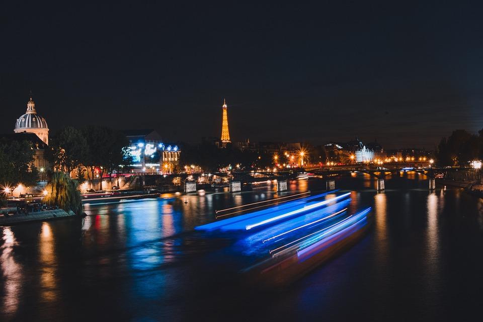 Night, Paris, Eiffel, France, Architecture, Tower, City