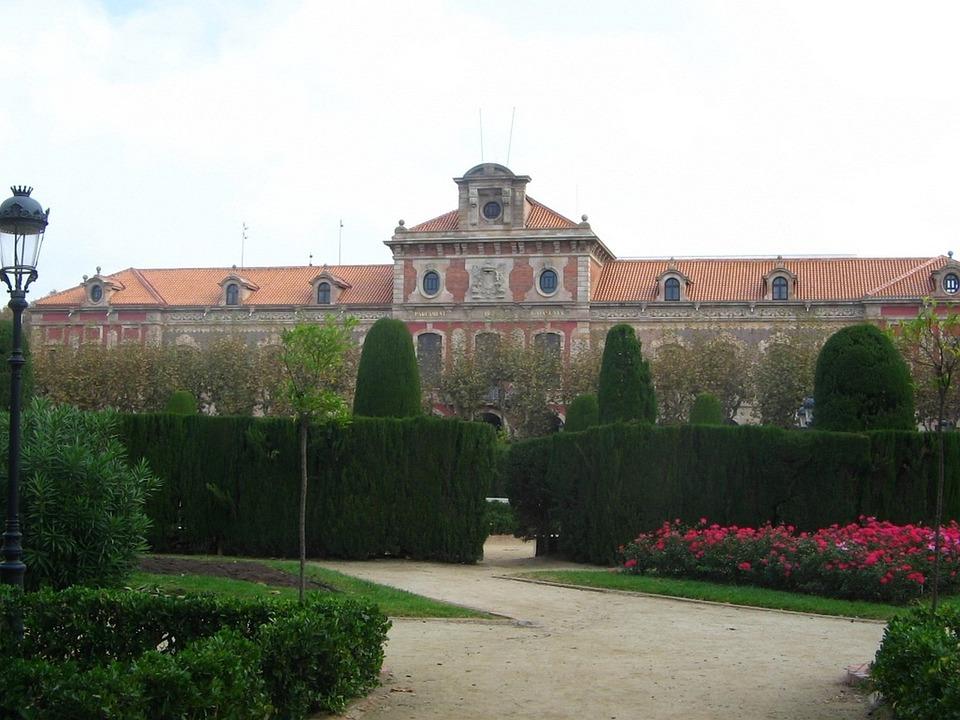 Spain, Barcelona, Park, Building, Castle Garden