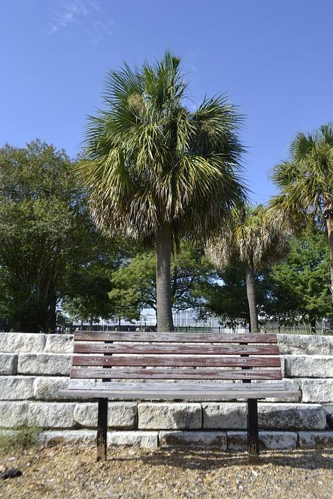 Houston Texas Playground Bench, Park Bench, Bench