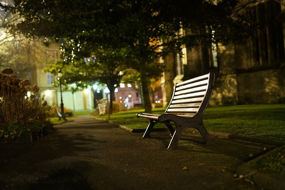 Free Photo Park Bench Night City Max Pixel