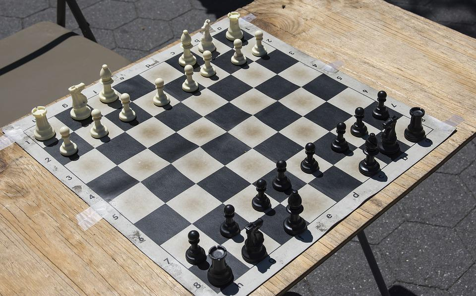 Chess, Game, Board, Table, New York, Park, Summer
