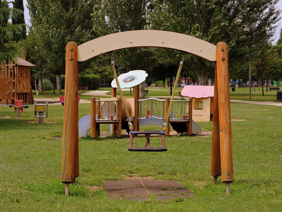 Swing, Game, Park, Green, Garden, Children's Games
