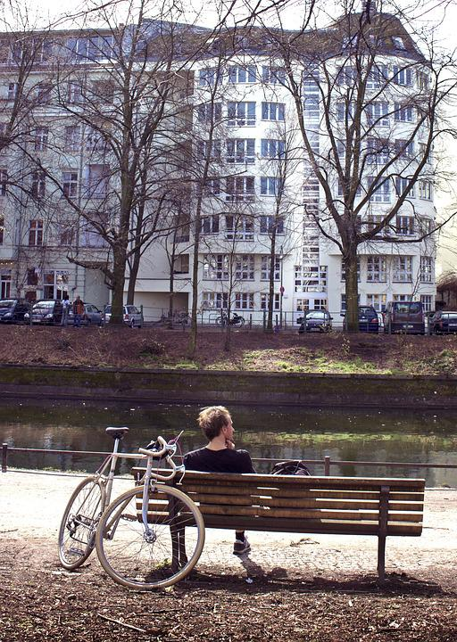 Relaxation, Bike, Park, Channel, City