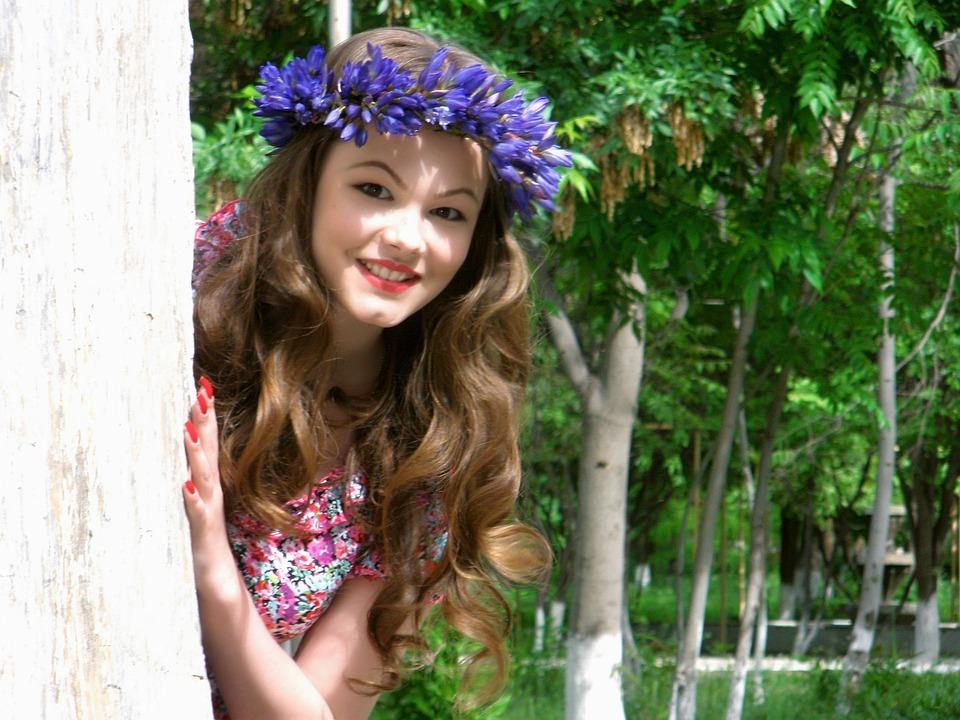 Park, Nature, Girl, Trees, City Park, Spring, Tree