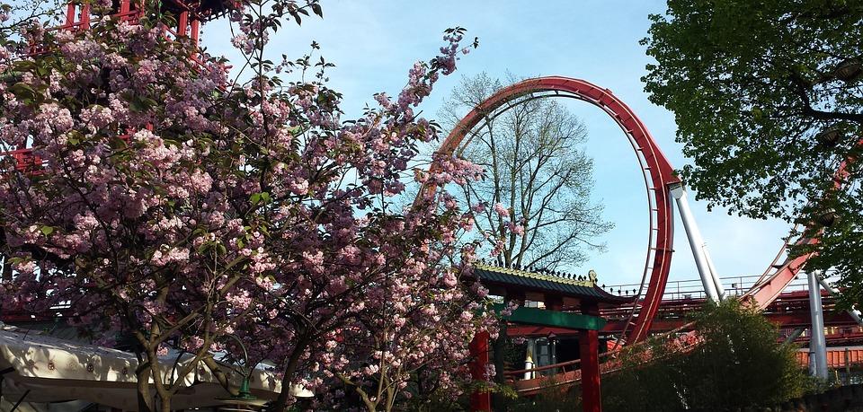 Loop, Tivoli, Denmark, Amusement, Amusement-park, Park