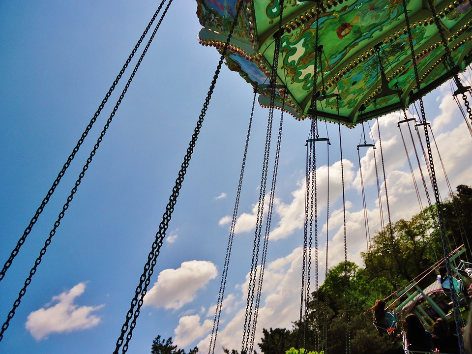 Manege, Swing, Park, Game, Perspective
