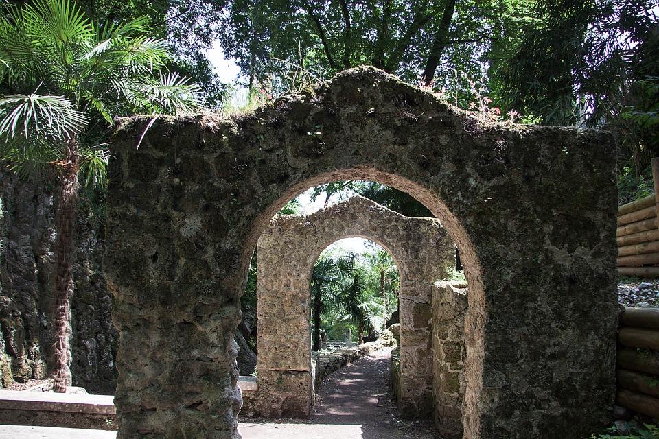 Park, Trees, Tree, Garden, Generously, Romantic, Arch