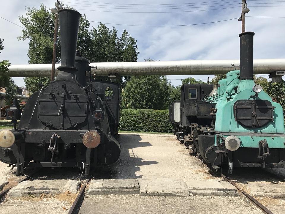 Locomotive, Train, Park