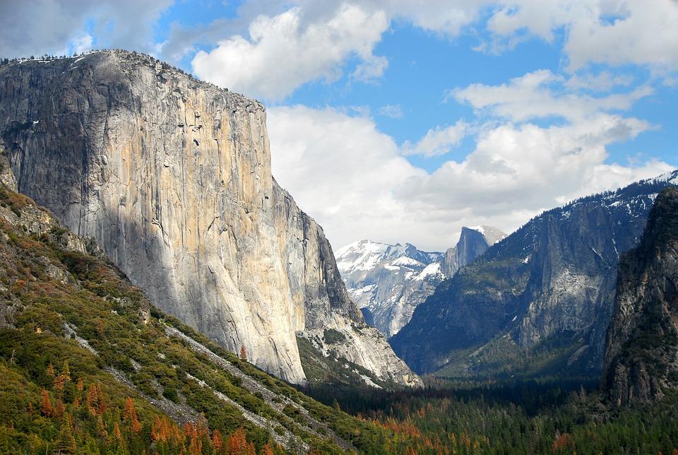 Nature, Mountain, Park, Yosemitte