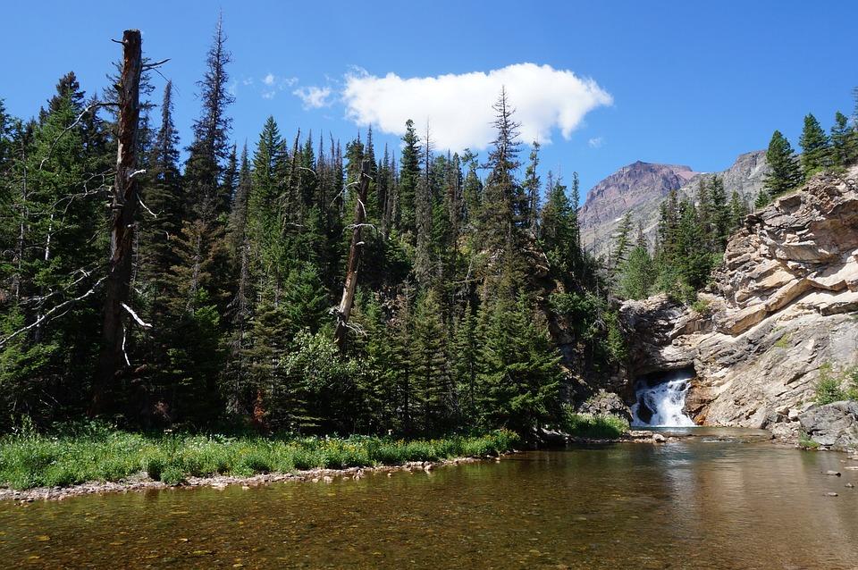 America, Usa, Montana, Glacier, National, Park, Lake