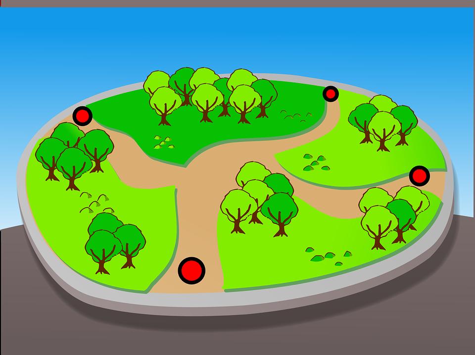 Park, Map, Nature