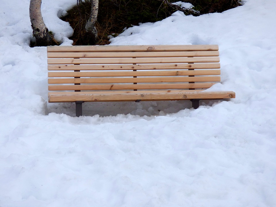 Bench, Snow, Park, Winter, Season, Weather, Outdoor
