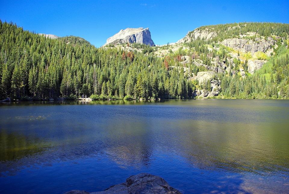 Bear Lake Scene, Rocky, Mountain, National, Park, Lake
