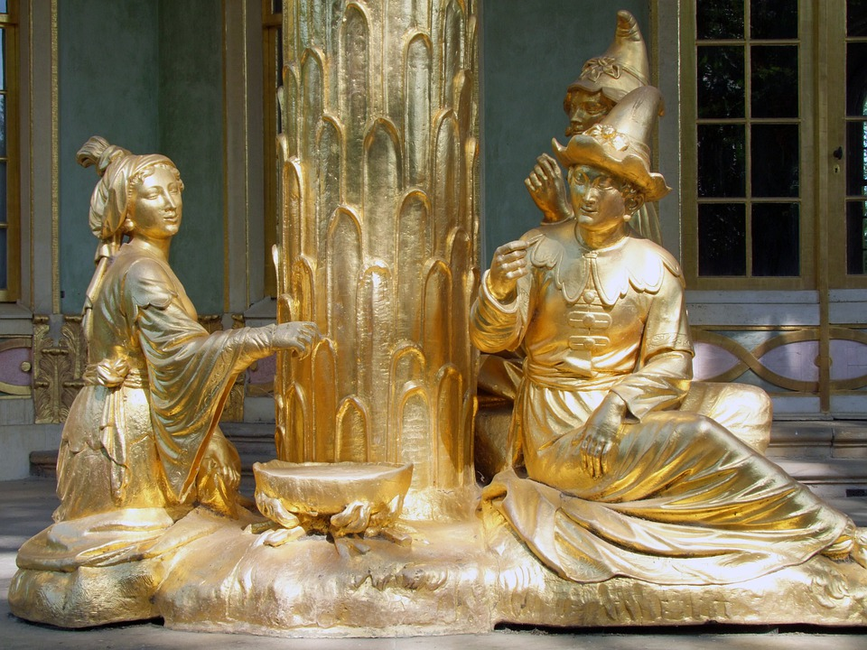 Sculpture, Statues, Figures, Scenery, Park Sanssouci
