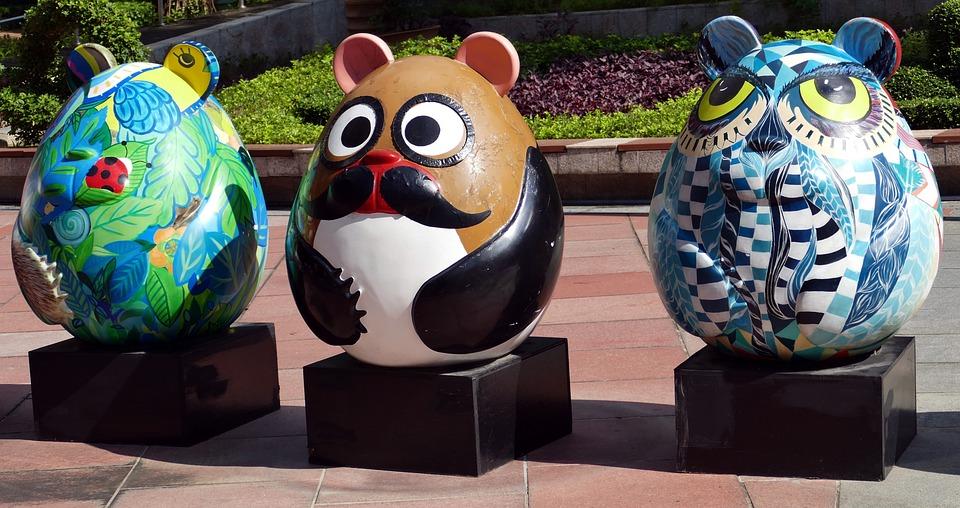 Mouse, Fig, Funny, Mice, Decoration, Sculpture, Park