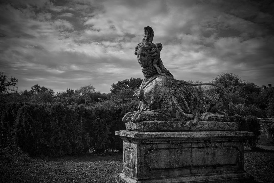 Sphinx, Statue, Sculpture, Park, Stone, Stone Sculpture