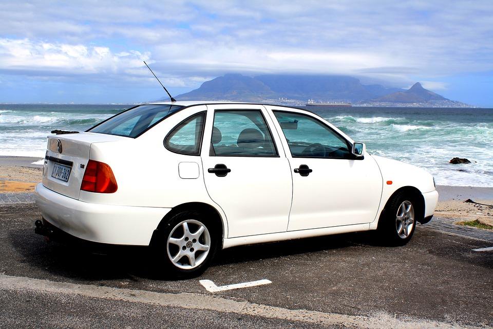 Auto, Vehicle, Vw, Park, Parked, White, Table Mountain