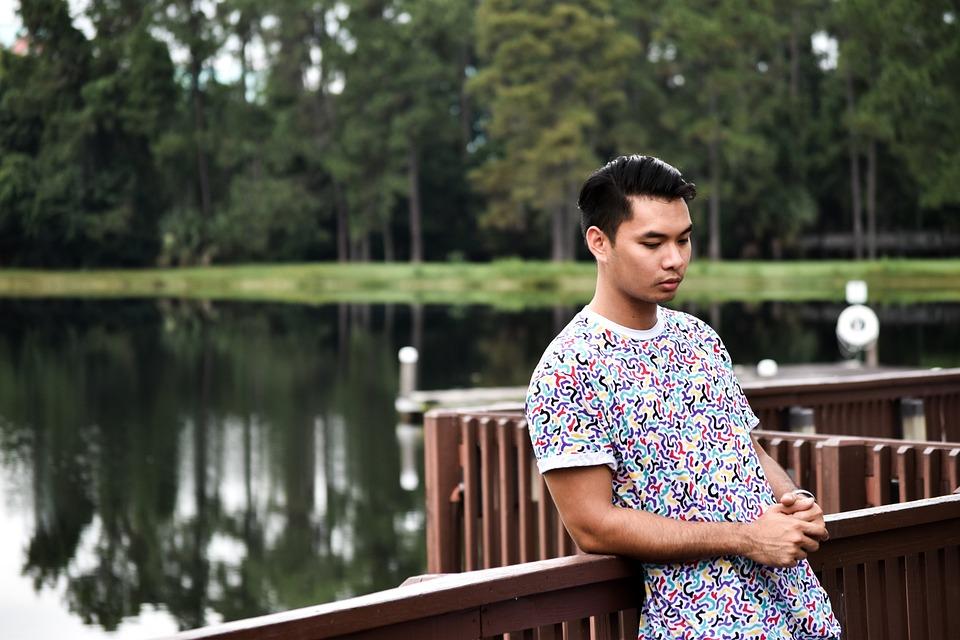 Nature, Asian, Thinking, Outdoor, Park, Lake