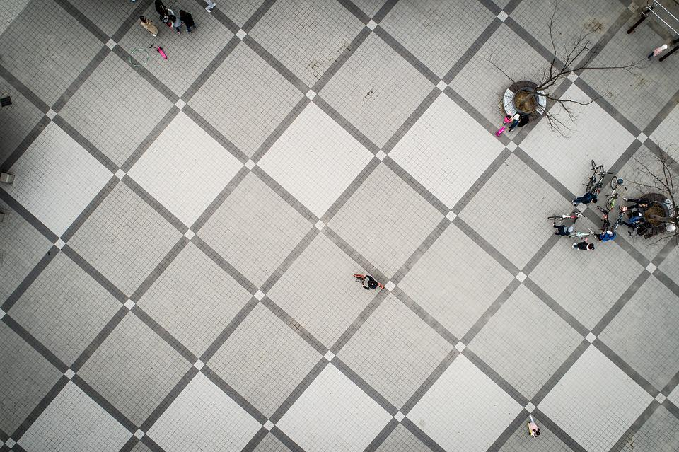 Tile, Floor, Park