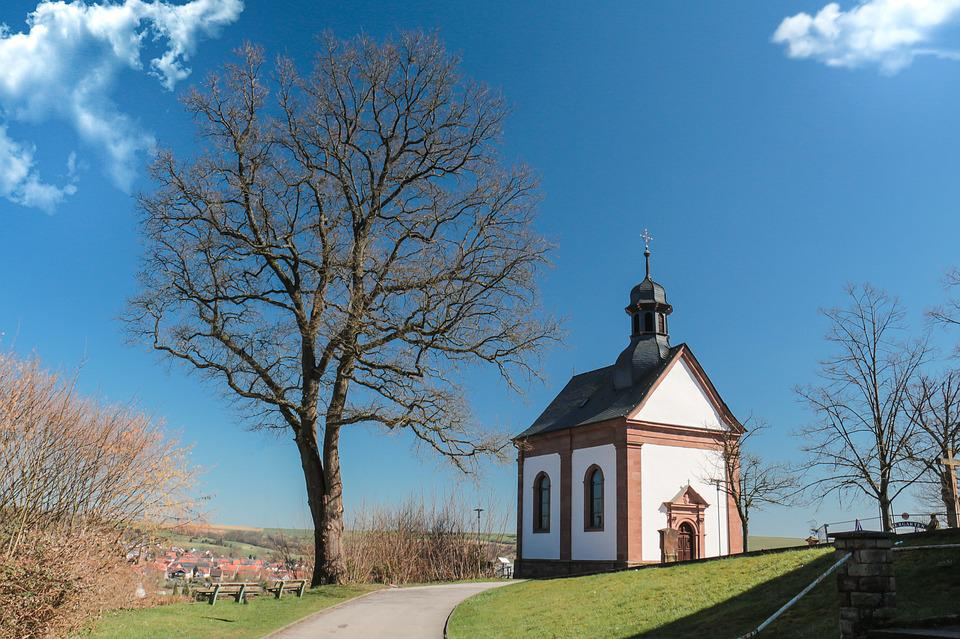 Tree, Sky, Nature, Architecture, Old, Chapel, Park