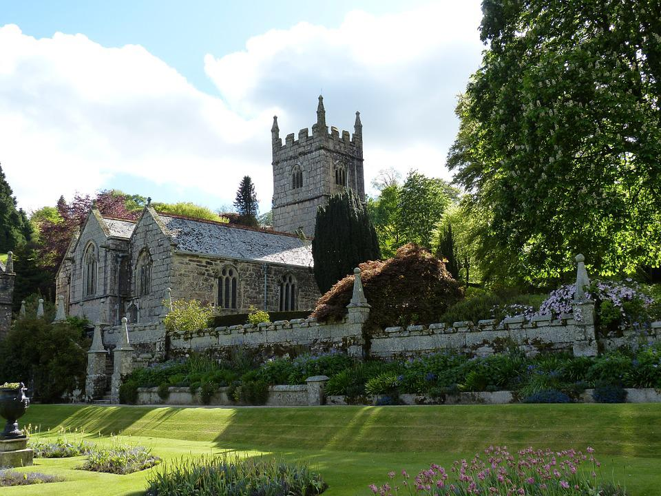 Church, Cornwall, England, United Kingdom, Park, Garden
