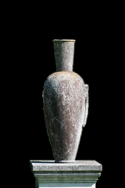 Vase, Amphora, Sculpture, Park, Artwork, Sand Stone