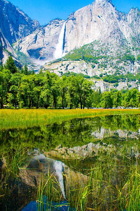 Yosemite, Waterfall, Usa, Park, California, National