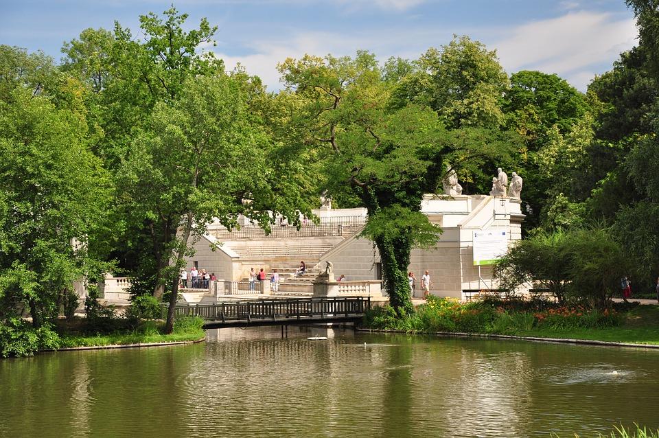 Warsaw, Poland, Park łazienkowski, Royal Bathroom, Park