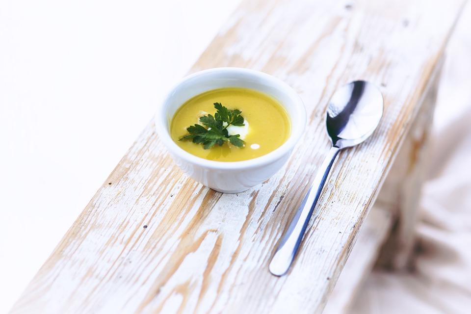 Leek, Potato, Soup, White, Bowl, Healthy, Parsley