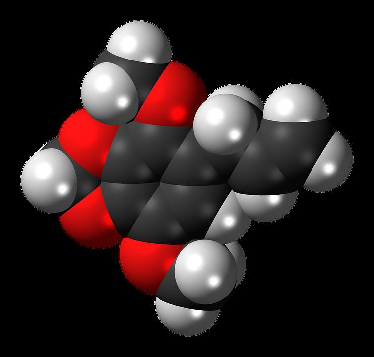 Apiol, Phenylpropanoid, Parsley, Molecule, Model
