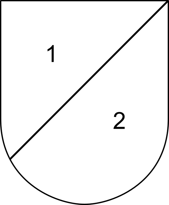 Shield, Parted, 2, 1, Part