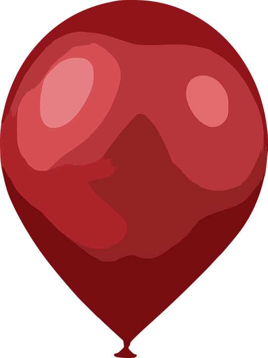 Balloon, Red, Air, Party, Decoration, Inflated