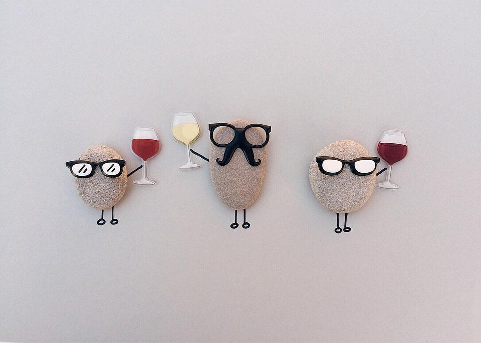 Wine, Party, Celebration, Rock, Art