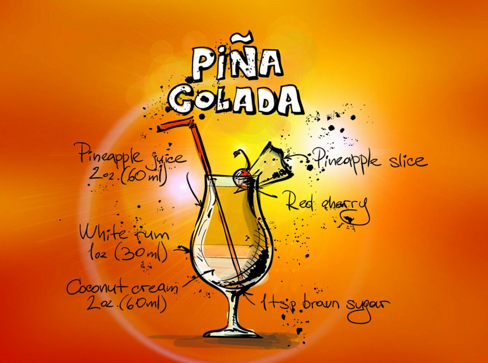 Pina Colada, Cocktail, Drink, Alcohol, Recipe, Party