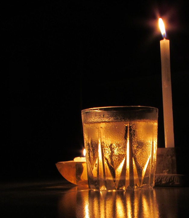 Glass, Candle, Light, Party, Drink, Flame, Wineglass