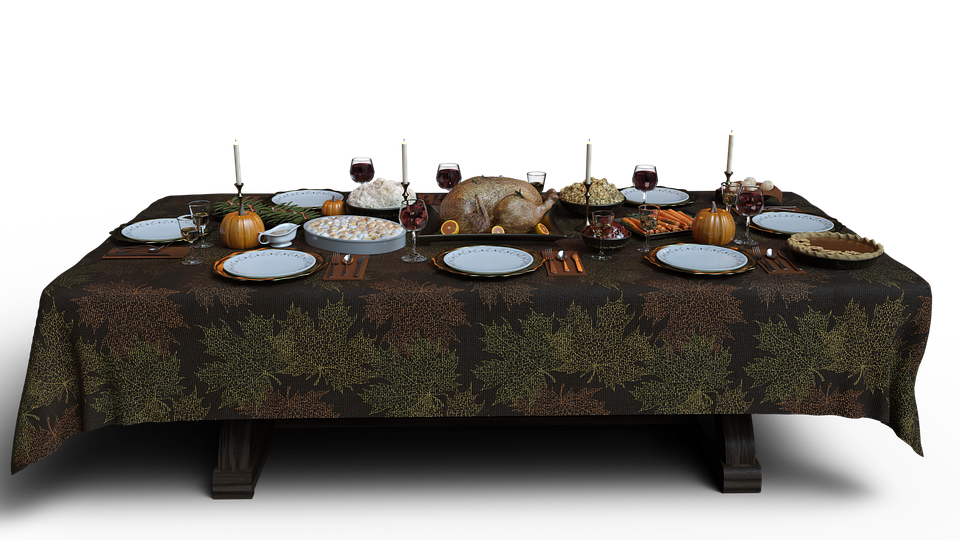 Table, Thanksgiving, Feast, Banquet, Party, Event