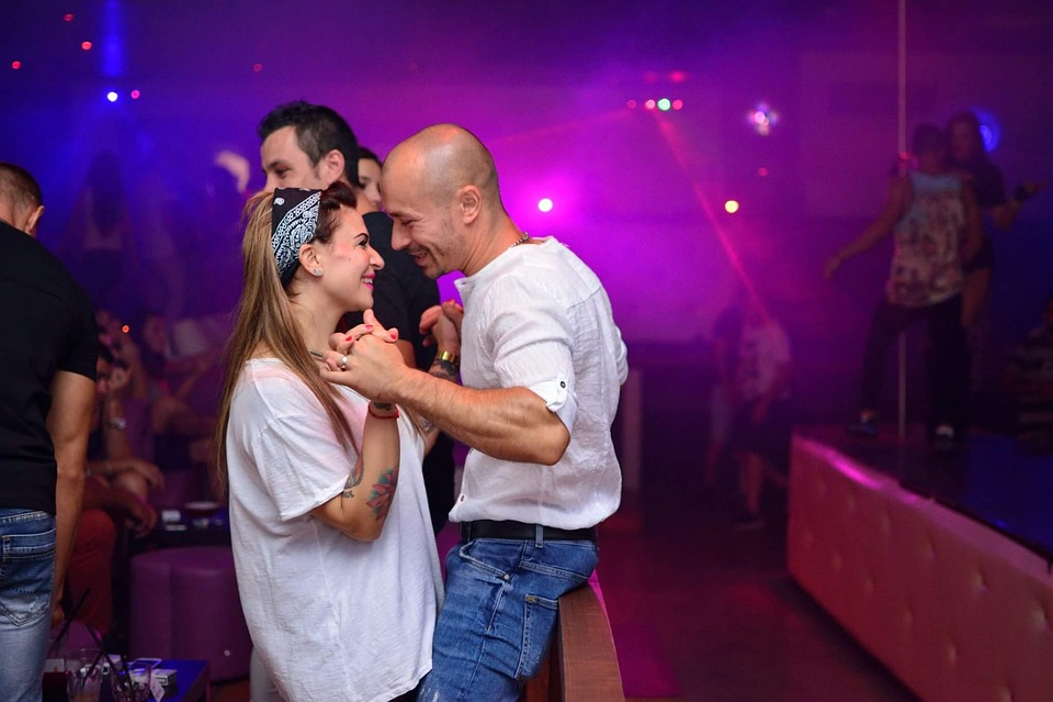 Party, Couple, Love, Disco, Bar, Color, Club, Dance